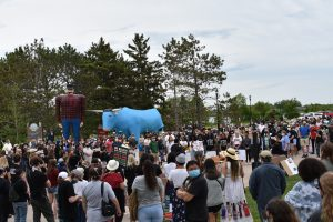 BSU's Black Student Union led a peaceful demonstration June 6