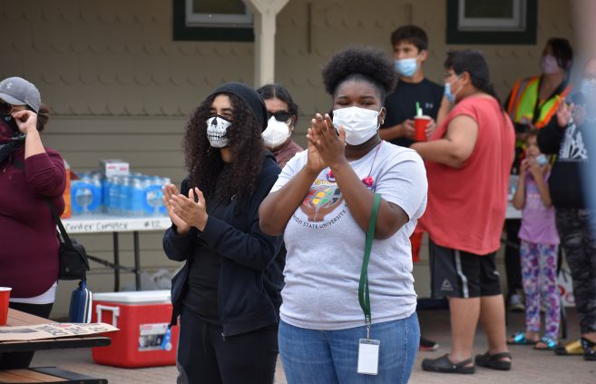 Students attended the Black Student Union's social injustice demonstration in June