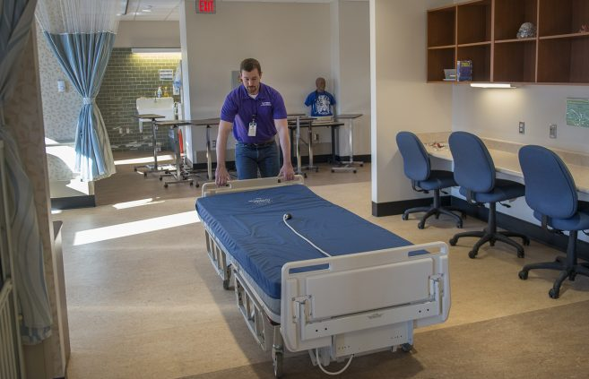 In April, Bemidji State University loaned beds from its nursing labs in Bensen Hall to Sanford Health of Bemidji, which needed them to increase its capacity to host COVID-19 patients.