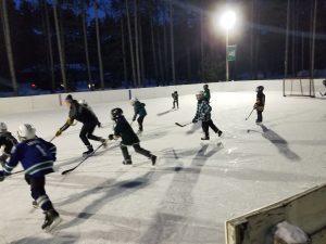 The Hammitt backyard rink, photo provided by Bryan Hammitt.