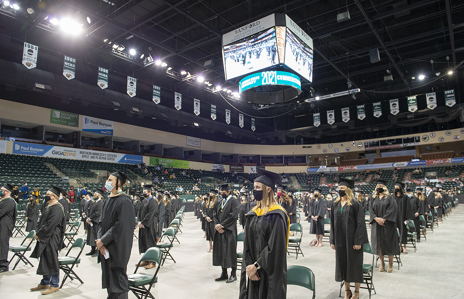 Socially distanced Commencement 2021