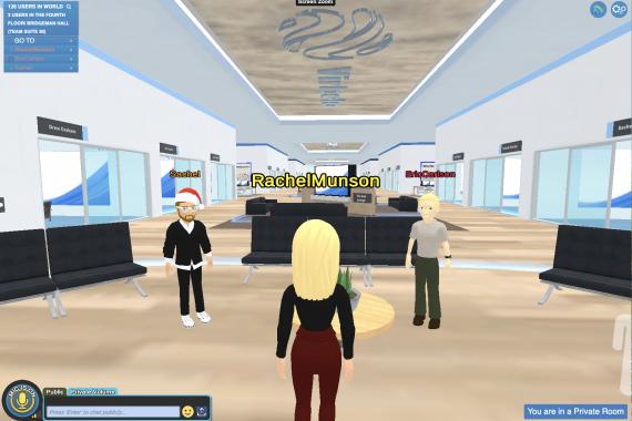 Virbella avatars on The Fourth Floor