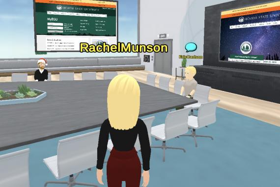 "Virbella avatars in The Fourth Floor's ""bored"" room"