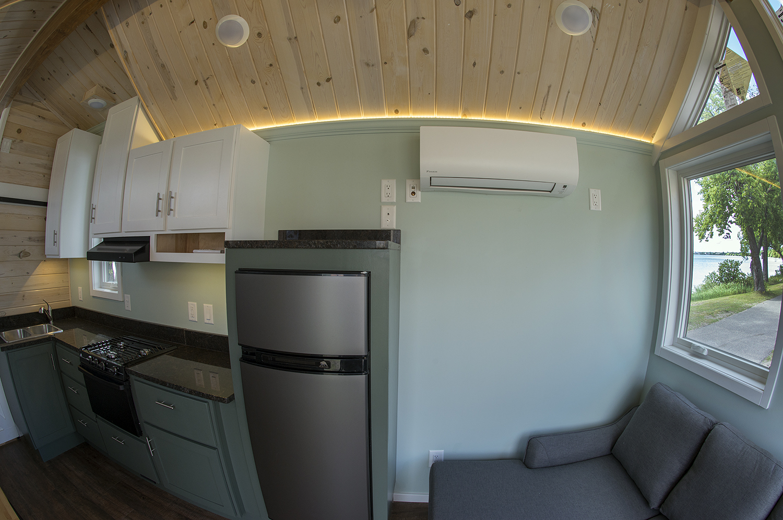 Bemidji State University tiny house Daikin split air conditioner/heater.