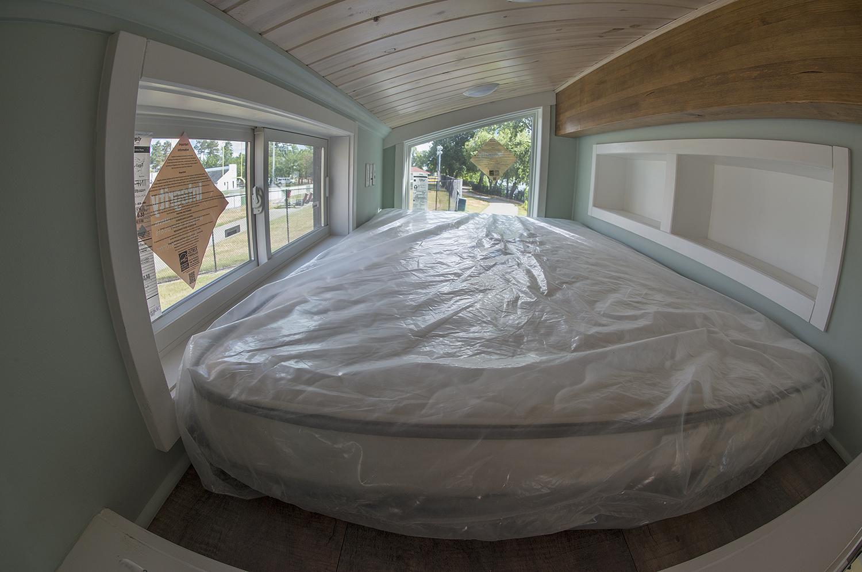 Bemidji State University tiny house custom loft mattress.Bemidji State University tiny house