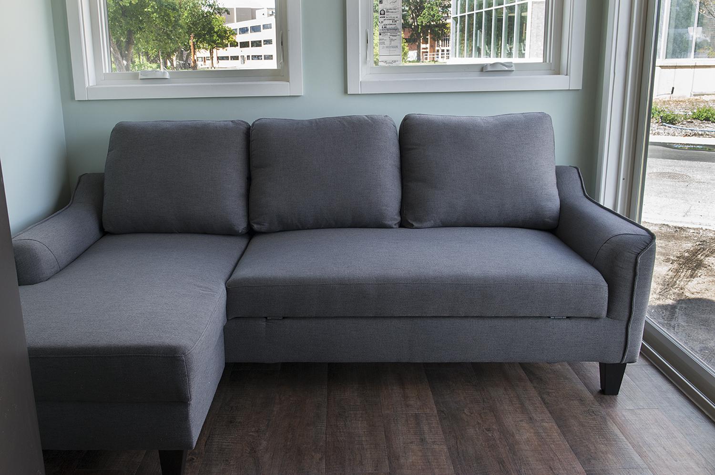 Bemidji State University tiny house Full-size sleeper sofa
