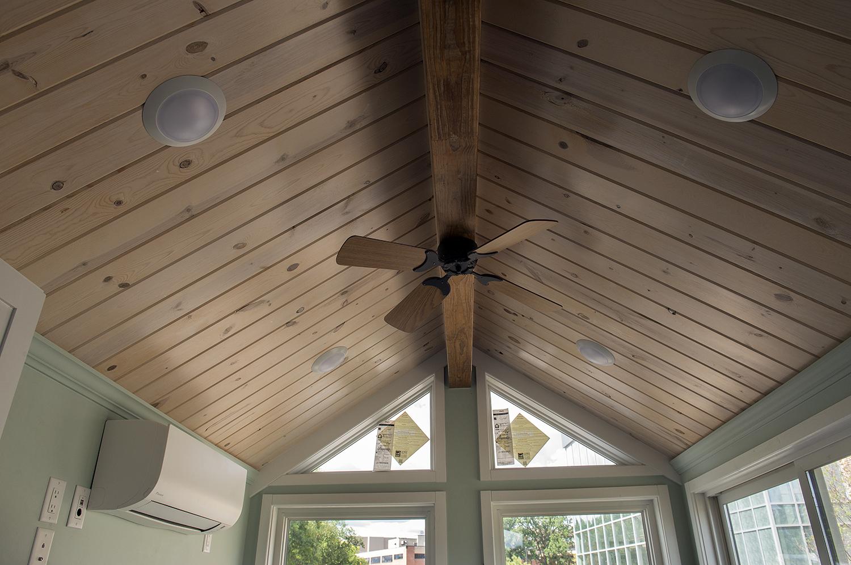 Bemidji State University tiny house Ceiling fan 12V.