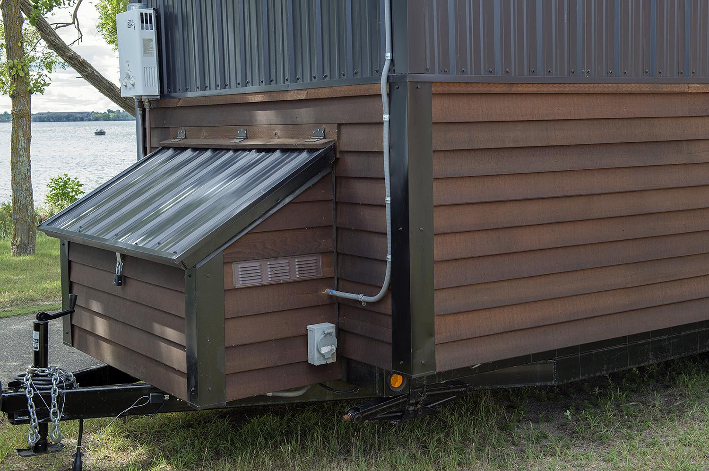 Bemidji State University tiny house EZ Tankless LP gas water heater