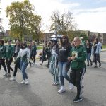BSU students join in the homecoming parade.