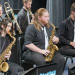Blue Ice Jazz Band perform in the Carl O. Thompson memorial concert.