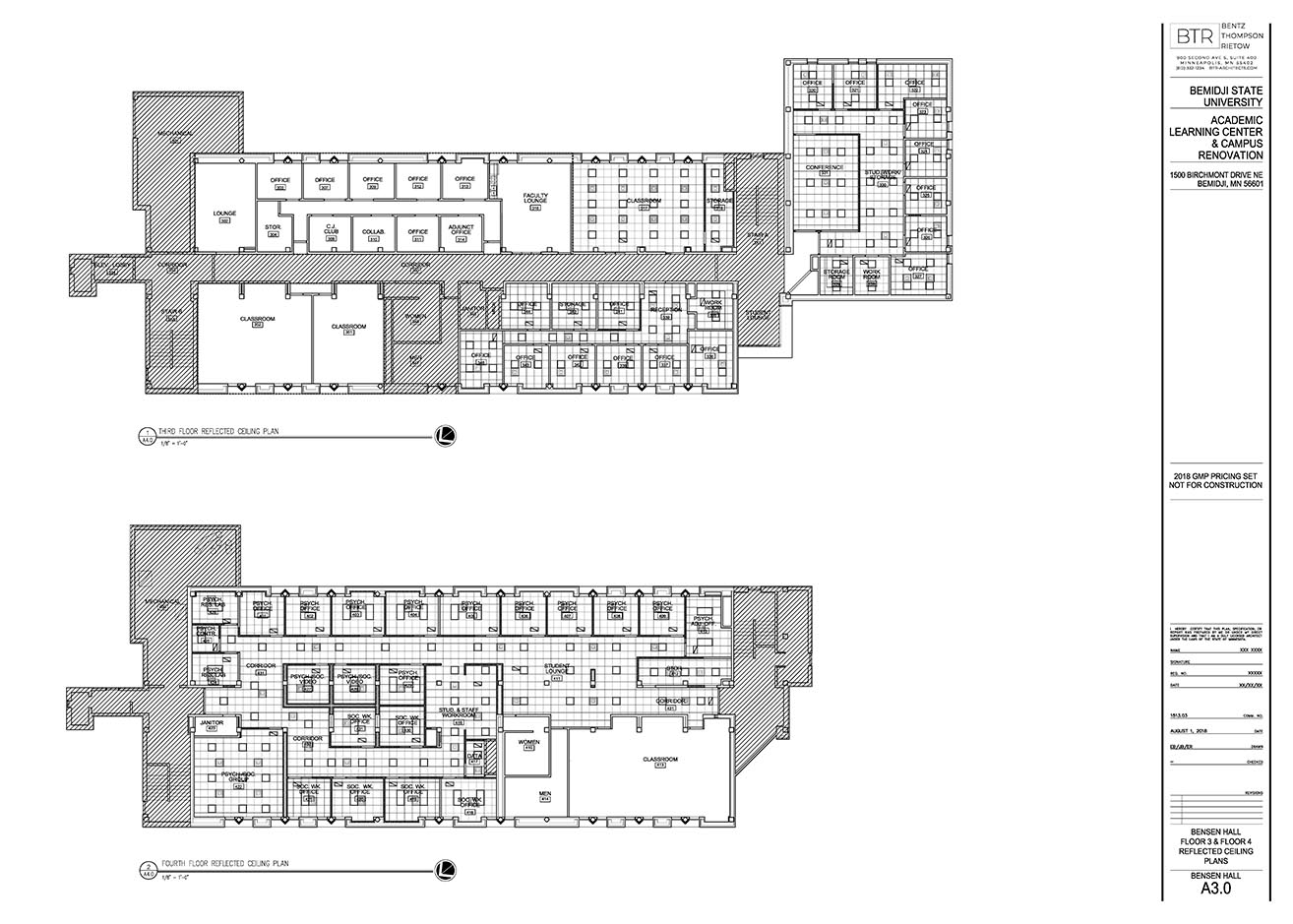 bensen hall renovation floor plans