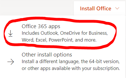 Install Microsoft Office 365 to your personal device    Information