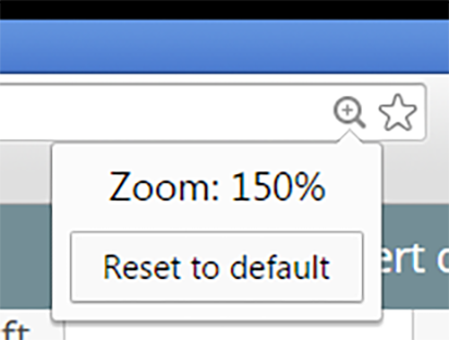 Adjusting zoom settings in Chrome browser | Information Technology