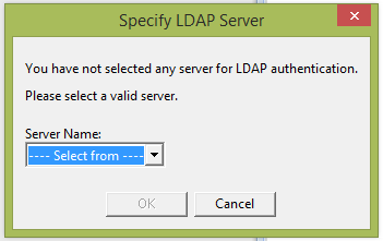 Picture of LDAP Server Selection