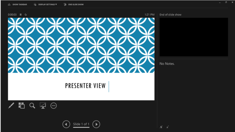PowerPoint 2016 and Presenter View  Windows  | Information