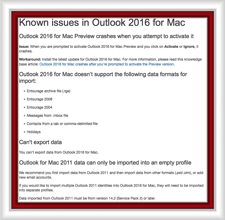 known issues with office and windows 10 microsoft office