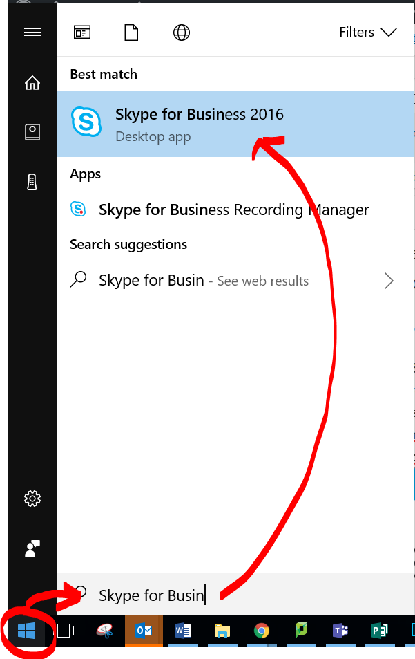 you will see the app appear in the search results do not use skype thats the personal version use skype for business 2016
