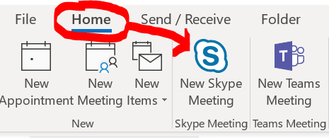 Schedule a Skype for Business meeting from Outlook 2016