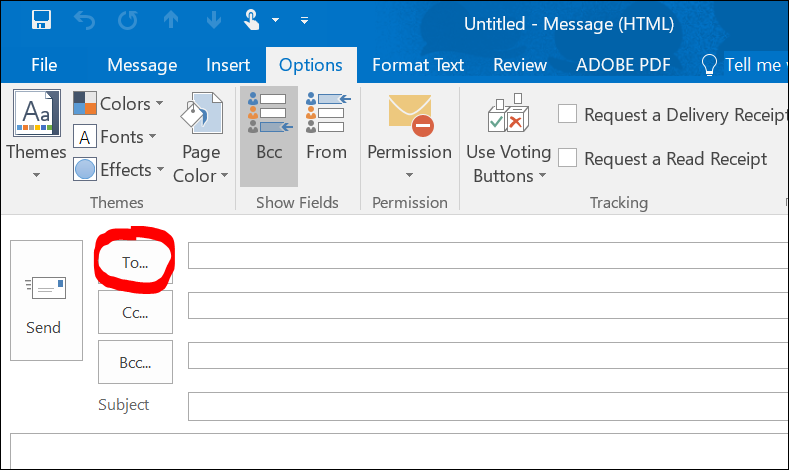 Use the Address Book to find contacts in Outlook desktop