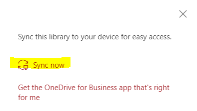 launch OneDrive to sync