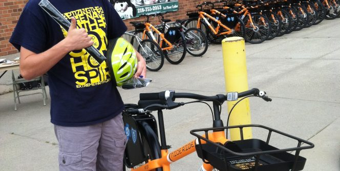 Bucky's Bikes are available for rental fall, spring, and summer.