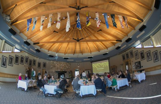 The Feast of Green was held in the American Indian Resource Center's Gathering Place.