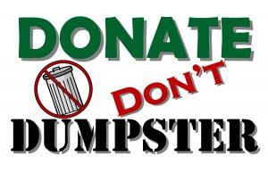 Donate Don't Dumpster