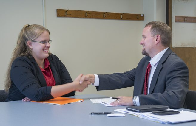 Career Services offering practice interviews