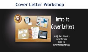 Intro to Cover Letters Workshop