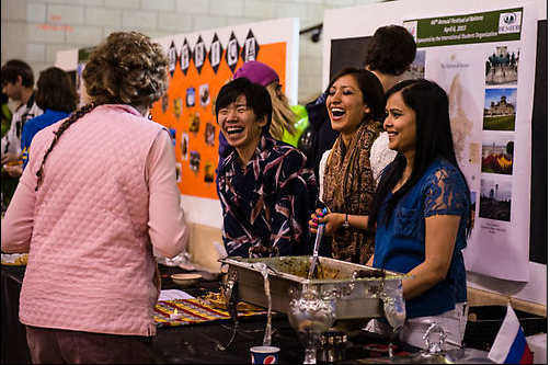During the Feast of Nations each year international students share food with the BSU community