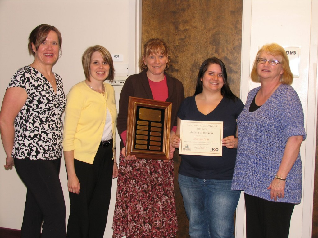 Marissa Stitt (fourth from left)with Sarah Young, Crystal Cleven, Kelli Steggall, and Sharon Gritzmacher.