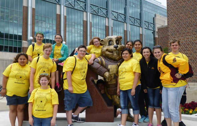 Summer program college visit to Goldy at the University of Minnesota, Twin Cities