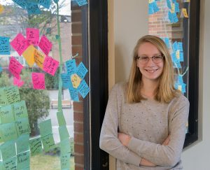 Kylie DeGrote and the Post-It Project.