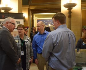 Minnesota Governor Tim Walz, BSU President Faith Hensrud, BSU professor Dr. Carl Isaacson and BSU student at the Minnesota State Day at the Capitol.