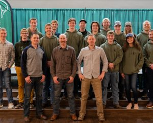 """Steven Rinella and Ryan """"Cal"""" Callaghan of the """"MeatEater"""" Netflix show and podcast attended events hosted by the BSU chapter of Ducks Unlimited."""